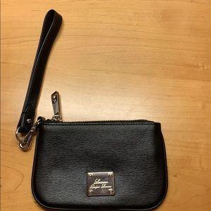 Black leather Lauren Ralph Lauren  wristlet